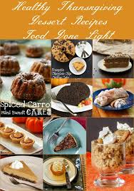 healthy thanksgiving dessert recipes food done light