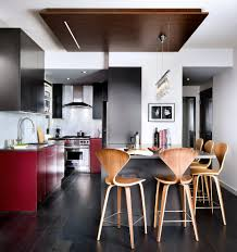 Kitchen Peninsula With Seating by Toronto Drop Ceiling Ideas Kitchen Modern With Peninsula