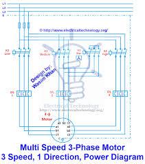 multi speed 3 phase motor 3 speeds 1 direction power u0026 control