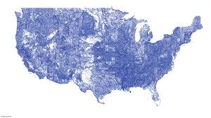 america map with rivers a map of every river in america by nelson minar