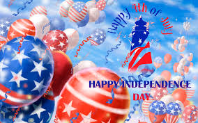 Flying Flag America Us Independence Day Flying Flag Baloons Hd Wallpaper