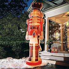 Nutcracker Christmas Yard Decorations by Amazon Com Christmas Inflatable 12 U0027 Photorealistic Nutcracker