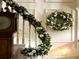 christmas banister ideas christmas decorations staircase banister