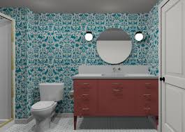 Teal Bathroom Pictures by W U0026d Renovates A Pattern Happy Basement Bathroom Wit U0026 Delight