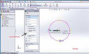 how to use solidworks circular sketch pattern tool