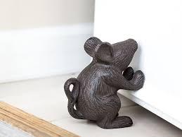 cast iron mouse door stop decorative rustic door