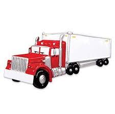 Semi Ornaments Semi Truck Tractor Trailer Personalized Tree Ornament
