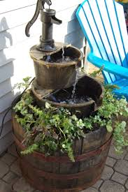 diy yard fountain home outdoor decoration