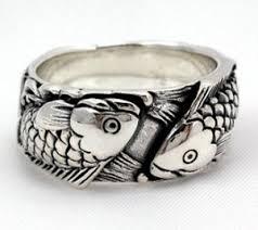 japanese wedding ring carp koi fish tattoos 925 sterling silver wedding band rings
