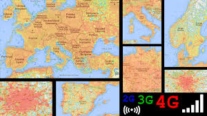 Germany Europe Map by Europe Lte 4g 3g 2g Signal Coverage Germany England Italy