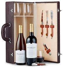 wine set gifts west coast wine duet with riedel tumblers wine baskets