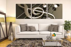 3 piece decor music multi panel canvas gray music note huge 3 piece group canvas living room canvas wall art music notes art panoramic