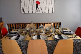 halloween tablecloth haute halloween tablescapes