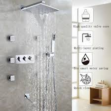 2017 waterfall bath shower faucet set easy installation shower