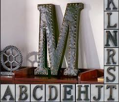 Appealing Letter K Wall Decor Industrial Letters Collectibles Ebay