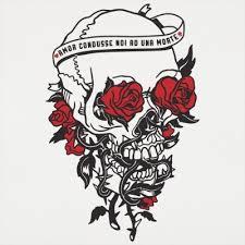 skull and roses t shirt