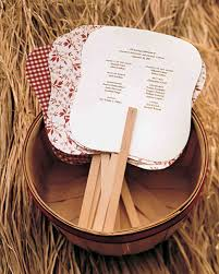 Fan Programs For Weddings A Rustic Red And White Wedding Outdoors In Virginia Martha