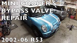 mini cooper s r53 bypass valve repair 2002 2006 bpv youtube
