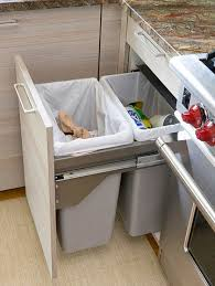Pull Out Trash Can 15 Inch Cabinet How To Build A Pull Out Trash And Recycling Bin Makely