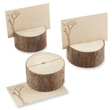 rustic real wood place card photo holder set of 4 couplesoncakes