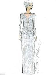 julien macdonald grayson perry and lilah parsons u0027 wedding dress