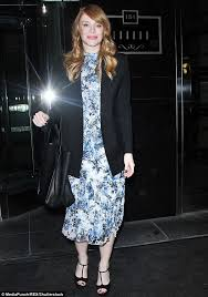 bryce dallas howard looks ladylike in a floral dress daily mail