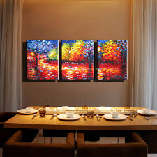 3 piece canvas wall art hand painted canvas oil painting palette