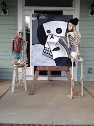Halloween Decorating Ideas With Skeletons by Halloween House Decorating Ideas The Baxter Skeletons Skeletons