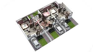 house design with floor plan 3d modern home plan and vastu 3d floor plans 3d house design 3d house