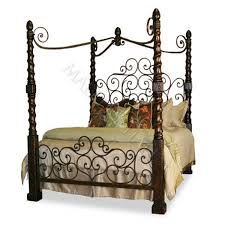Wrought Iron Canopy Bed Romantic Hand Forged Iron Canopy Bed 0 00 Mallery Hall