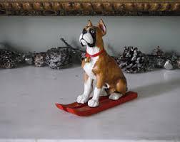 boxer dog xmas christmas boxers etsy