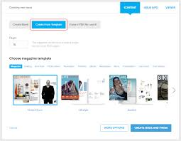 choosing a template from many beautiful designs joomag help center