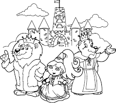 dora and animals castle coloring page wecoloringpage