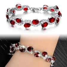 red crystal bracelet images Opk fashion classical red crystal stone women bracelet new jpg