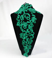 emerald green ribbon applique border embellishment embroidery emerald green ribbon on