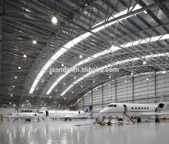 large span aircraft hangar prefabricated arch steel roof truss