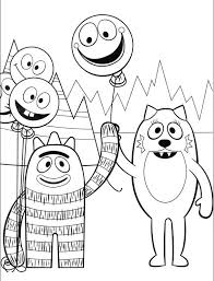 yo gabba gabba coloring pages coloring pages print