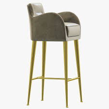 essential home dandridge bar chair 3d model cgtrader