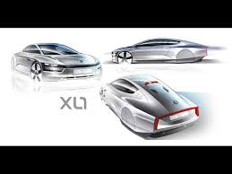 volkswagen xl1 2011 volkswagen xl1 concept design sketch three views