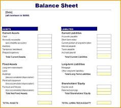 Monthly Balance Sheet Template Balance Sheet Excel Template Haisume