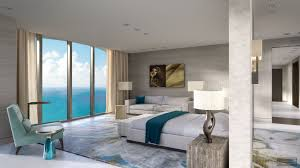 39m miami penthouse is offered with a rare pink diamond the 1 500 square foot master bathroom cladded in full slab calcutta gold stonework and equipped with a high tech intelligence system includes a steam room
