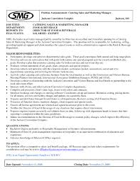 catering manager resume events manager resume