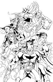 justice league coloring pages all members coloringstar
