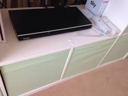 Ikea Kallax Bench by Very Quick Ikea Hack U2013 Expedit Kallax Bookshelf To Tv Bench With