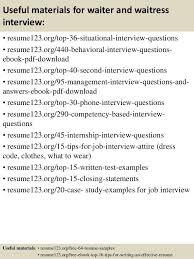 sample resume of waitress free server resume example server