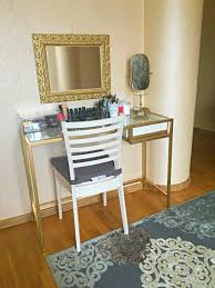 Small Vanity Table Ikea I Turned Ikea Vittsjo Laptop Table To My Little Vanity Table