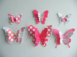 Butterfly Wall Decals For Kids Rooms by 3d Wall Decor For Kids Cadel Michele Home Ideas 3d Wall Decor
