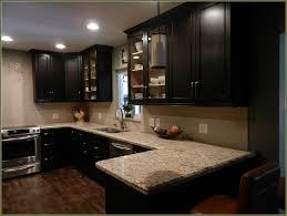 contemporary kitchen with dark wood sharp home design