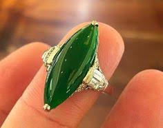stunning art deco jade ring another red black and green colour