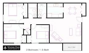 3 bedroom 2 bathroom 3 2 pines apartments